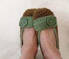 Pattern Womens Crochet Slippers