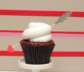 Valentine's Day Cupid's Arrow Cupcake Toppers
