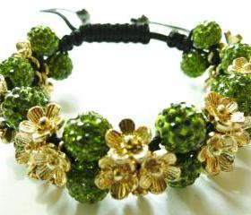 NEW Green Shamballa Bracelet