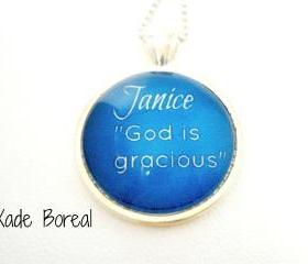 Name Meaning Necklace, JANICE