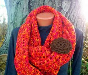 Knit Infinity Scarf Cowl Colorful