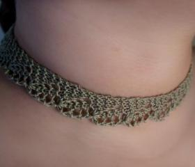 Dainty Fern Lace Necklace