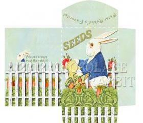 Vintage Seed Packet Digital Download Printable Collage Sheet Peter Rabbit Image Scrapbook