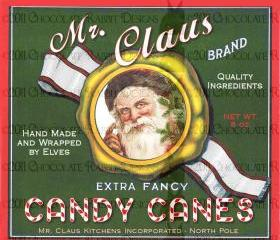 Vintage Christmas Santa Candy Label Digital Download Printable Scrapbook Tag Card Holiday Image