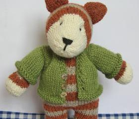 Tabby Cat toy knitting pattern