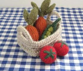 Fruit & Vegetables basket toy knitting patterns