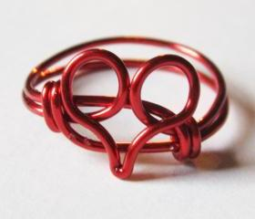 Limited Edition Red Heart Ring for Valentine's Day