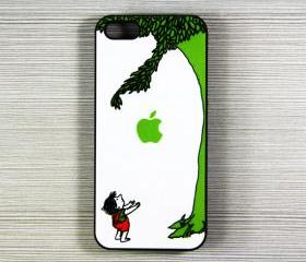 Giving Tree iPhone 5 Hard Cover Case white and green