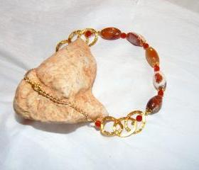 Agate Necklace handmade Jewelry