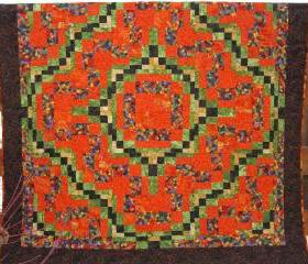 Pieced Quilt Vivid Colors