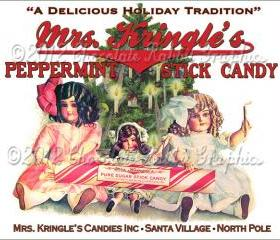 Christmas Vintage Tag Printable Label Peppermint Candy Digital Collage Sheet Graphics Scrapbook Image