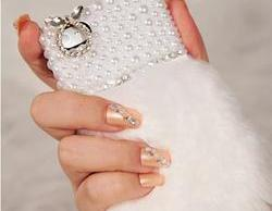 Natural Pearl Fur Case for Iphone 4 / 4s
