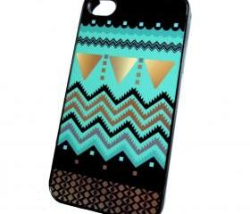 iPhone 4 iPhone 4S Case Decorative Black Plastic Case Mint Gold Black