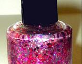 Nail Polish - New - Tickled Pink - Pink Holographic Glitters - 0.5 oz Full Sized Bottle - READY TO SHIP