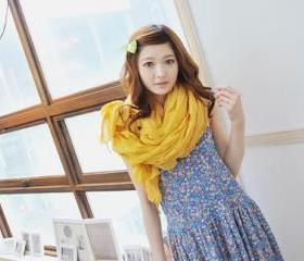 Yellow Scarf -cotton drape scarf - Handmade Cotton Scarf-Winter Scarf