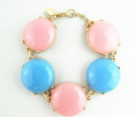 5 stone Bubble BIB Statement Fashion Beads Bracelet