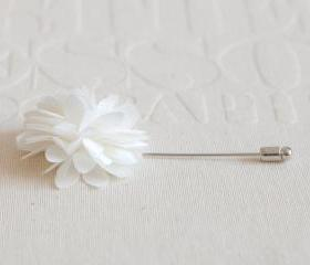 KAYLA-Ivory Men's flower Boutonniere / Buttonhole for wedding,Lapel pin,tie pin