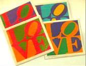 Coasters - Ceramic Tile - Set of 4 - LOVE - Valentine's Day