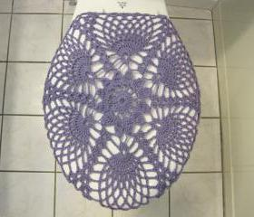 Crochet Toilet Seat Cover - lavender (TSC9C)