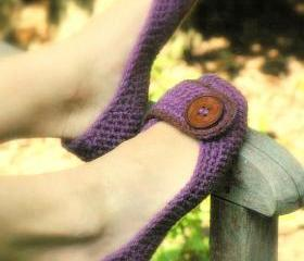 Crochet Pattern for Violet Womens House Slipper PDF - SIX sizes included - Womens 5 - 10 - Pattern number 205