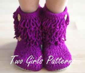 Furryluscious Women's Boots PDF crochet pattern - Women's 5 - 11 - Pattern number 213