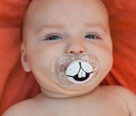 Some Bunny Loves You- Custom Hand Painted Pacifier- CLEAR MAMS 6 to 18 month pacifier