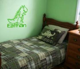 Cute personalized dinosaur decal