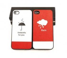 Rain, Umbrella for You iPhone 4/4s Case