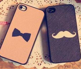 Moustache / Bowtie iPhone 4/4S or Samsung i9220 Case