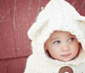 Teddy Bear Hooded Cowl
