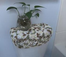 Crochet toilet seat cover or crochet toilet tank lid cover - Cotton-mixed (TSC9D or TTL9D)