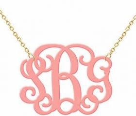 Monogram Acrylic Necklace