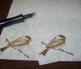 Lovely Bird on Branch - Old World - Stationery - Set of 50 Sheets - 25 Envelopes