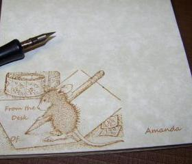 So Sweet Stationery - Personalized - Vintage Inspired - House Mouse - Notepad - 40 Sheets - Great for Teachers Too