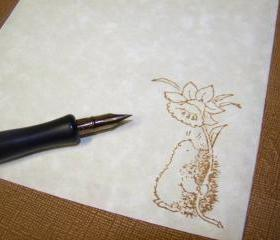 A Hedgehog Spring - Stationery Set - Parchment Paper - 30 Sheets - 30 Self Sealing Envelopes