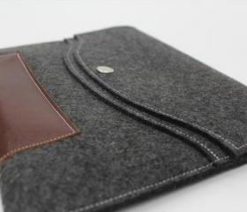 Macbook pro 15 Macbook Sleeve Case brief Wool Felt Custom Made Felt Case Sleeve Cover Bag With Strap for Macbook