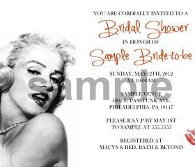 Bridal Shower Monroe Invitation( Digital File )