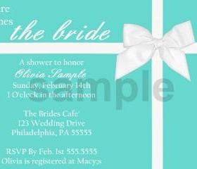 Bridal Shower Tiffany Invitation( Digital File )