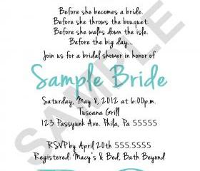 Bridal Shower I DO 2 Invitation( Digital File ) 