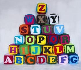 Felt ZOO alphabet, 26 alphabet cubes, felt blocks, zoo alphabet, letters, numbers, figures, shapes, abc, 123, MADE to ORDER