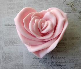 Rose Garden Rose Heart Soap