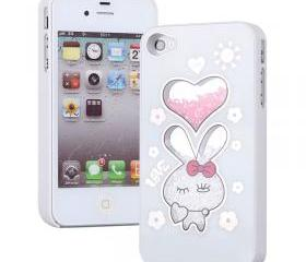Cute Rabbit Sliding Hard Cover Case For Iphone 4/4s