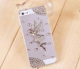 Cute angel rhinestone iphone 5 case