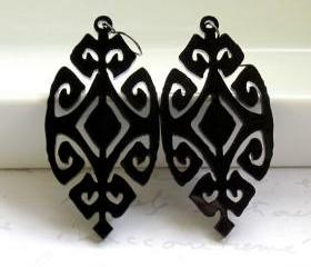 Black Ethnic Design Earrings