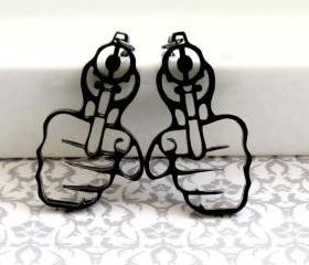 Hand With a Gun Earrings