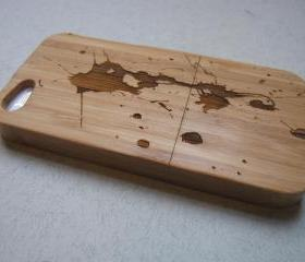 Iphone 5 case - wooden cases bamboo, cherry and walnut wood - Paint splash