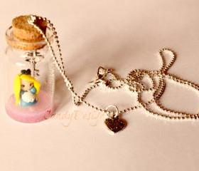 Alice in bottle... necklace