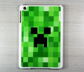 Minecraft creeper iPad Mini Hard Cover Case white