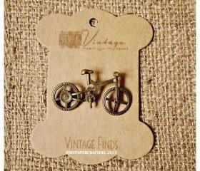 Bicycle Brass Charm Metal