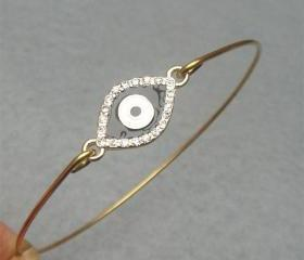 Evil Eye Bangle Bracelet Style 8